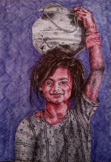Bhushan Saini Untitled Pen on Paper 18 x 12 Inches