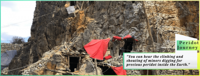 digging for precious stone