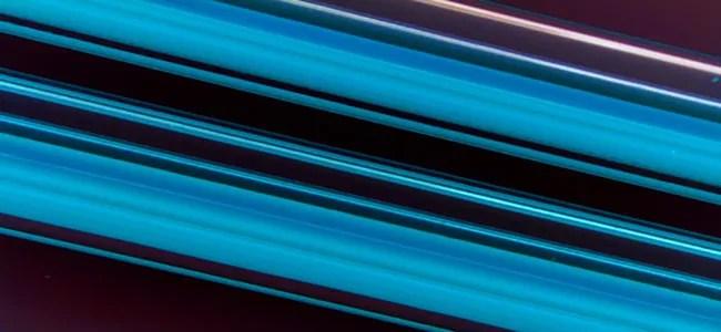 blue stripes representing glass