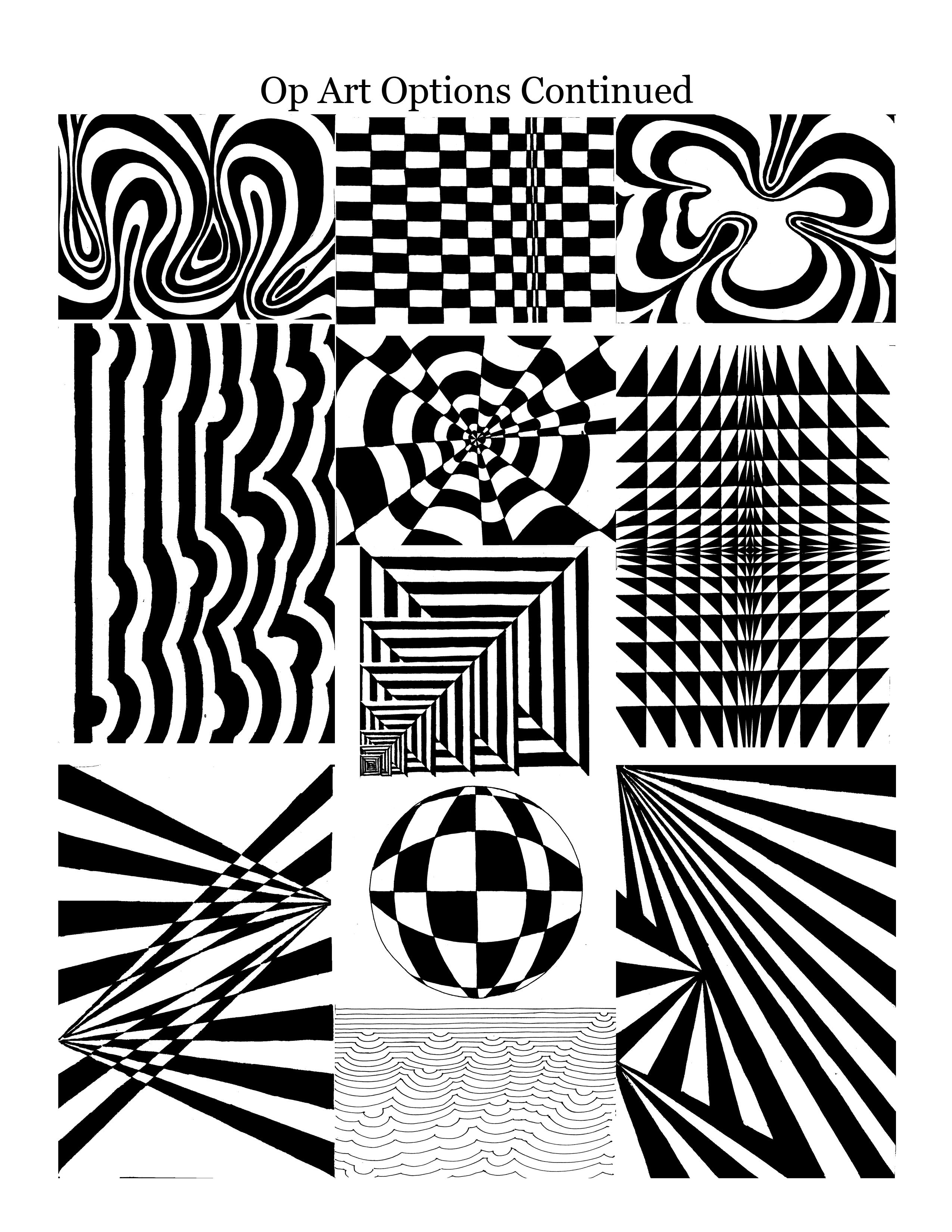 Worksheet Vertical Lines Op Art
