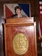 Alison Nicholls lecture at Explorers Club