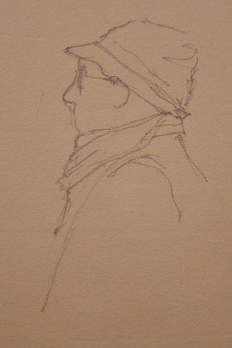 Exhibit Visitor sketch by Alison Nicholls