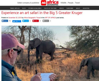 Africa Geographic Art of Africa blog series