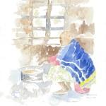 Tea Stall sketch by Alison Nicholls