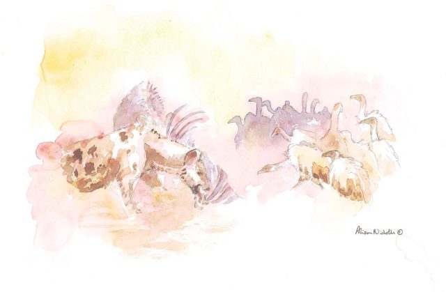 Hyenas and Vultures by Alison Nicholls