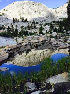 pacific crest trail reflecting lake