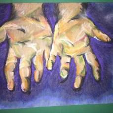 'open hands' pastel on paper $50