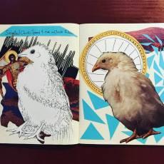 'canonized chicks' art journal