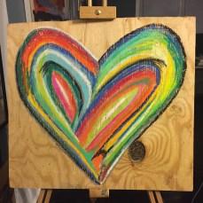 """""""2nd generation grateful heart' pastel on board $35"""