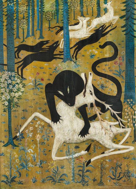 """Amadeo De Souza Cardoso Grand Palais : amadeo, souza, cardoso, grand, palais, Leopard, Deer"""", (1912),, Robert, Chanler:, Chanler,, Amadeo, Souza, Cardoso, Periphery"""