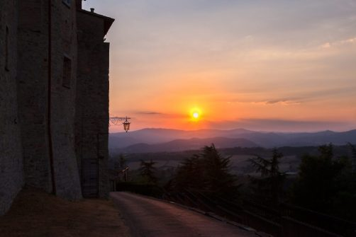 Sunset from Montone - Umbria, Italy