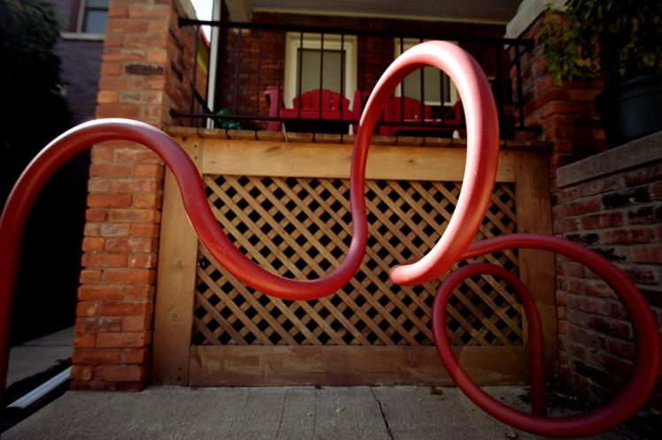 """Doormouse"" Jason Huffines (Bike rack) 5053 Commonwealth"