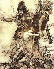 Fafner seizes Freyja