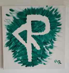 Gemälde Acry auf Leinwand . Eine Sigille