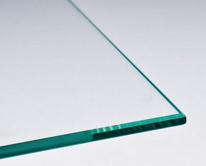 verre sur mesure avec joints polis