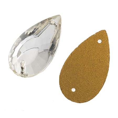 PEAR FACET CRYSTAL 20X11MM
