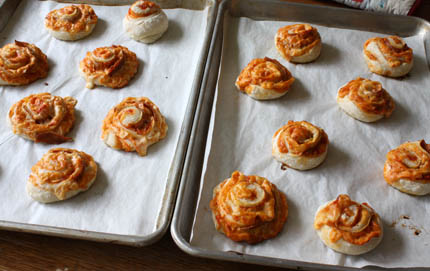 Baked Pizza Pinwheels | Artisan Bread in Five Minutes a Day