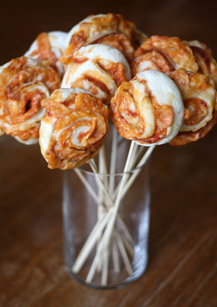 Pizza Pinwheels on a Stick | Artisan Bread in Five Minutes a Day