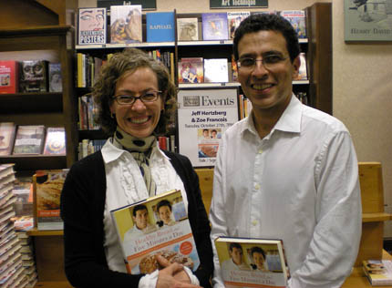 Zoë François and Jeff Hertzberg with their book Healthy Bread in Five Minutes a Day