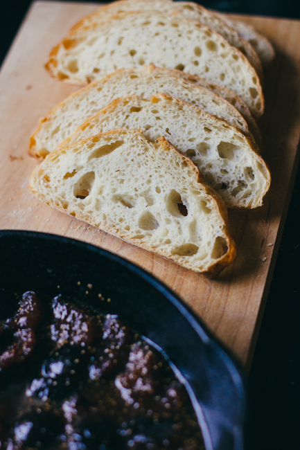Sliced Bread and Fig Compote | Artisan Bread in Five Minutes a Day