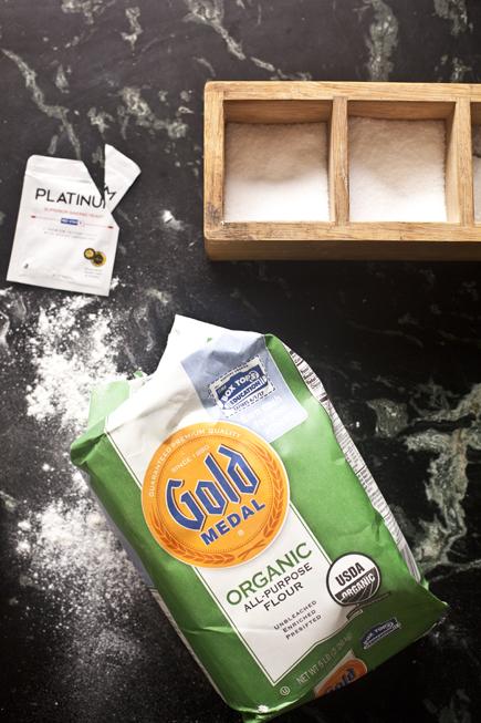 Salt Cellar, Platinum Yeast & Gold Medal Flour   Artisan Bread in Five Minutes a Day