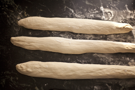Dough shaped into ropes before braiding | Artisan Bread in Five Minutes a Day