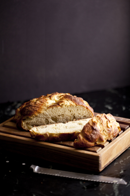 Apple and Honey Challah Sliced   Artisan Bread in Five Minutes a Day