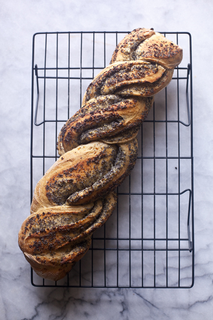 Onion Poppy Seed Twist Bread | Artisan Bread in Five Minutes a Day