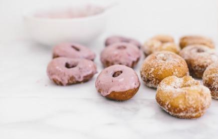 spelt doughnuts with blood orange glaze   bread in 5