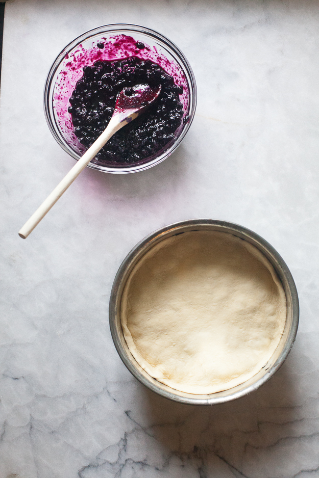 Cooked Blueberries and Coffee Cake | Artisan Bread in Five Minutes a Day