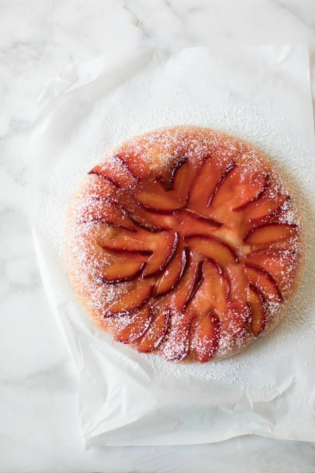 Upside Down Plum Brioche Cake | Artisan Bread in Five Minutes a Day