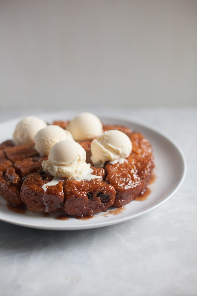 Slow-Cooker Monkey Bread (Crock-Pot) Topped with Ice Cream | Artisan Bread in 5 Minutes a Day