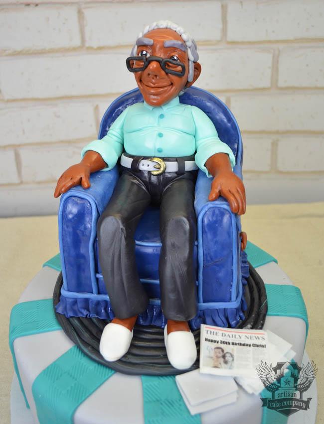 Old Man 30th Birthday Cake Artisan Cake Company