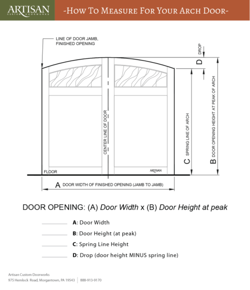 small resolution of arched garage door measurements