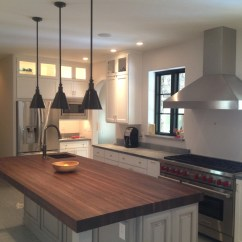Butcher Block Top Kitchen Island Knobs And Pulls For Cabinets Artisan Interiors Builders