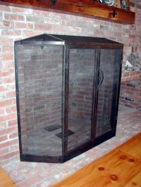 Artisan Iron  Traditional Fireplace Screen