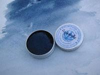 Godet d'aquarelle au bleu de pastel véritable