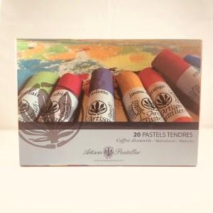 Coffret de 20 pastels tendres et secs de L'Artisan Pastellier