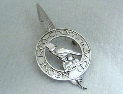Rhodium Highlanders Pin