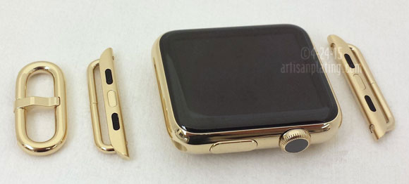 gold plated Apple watch.