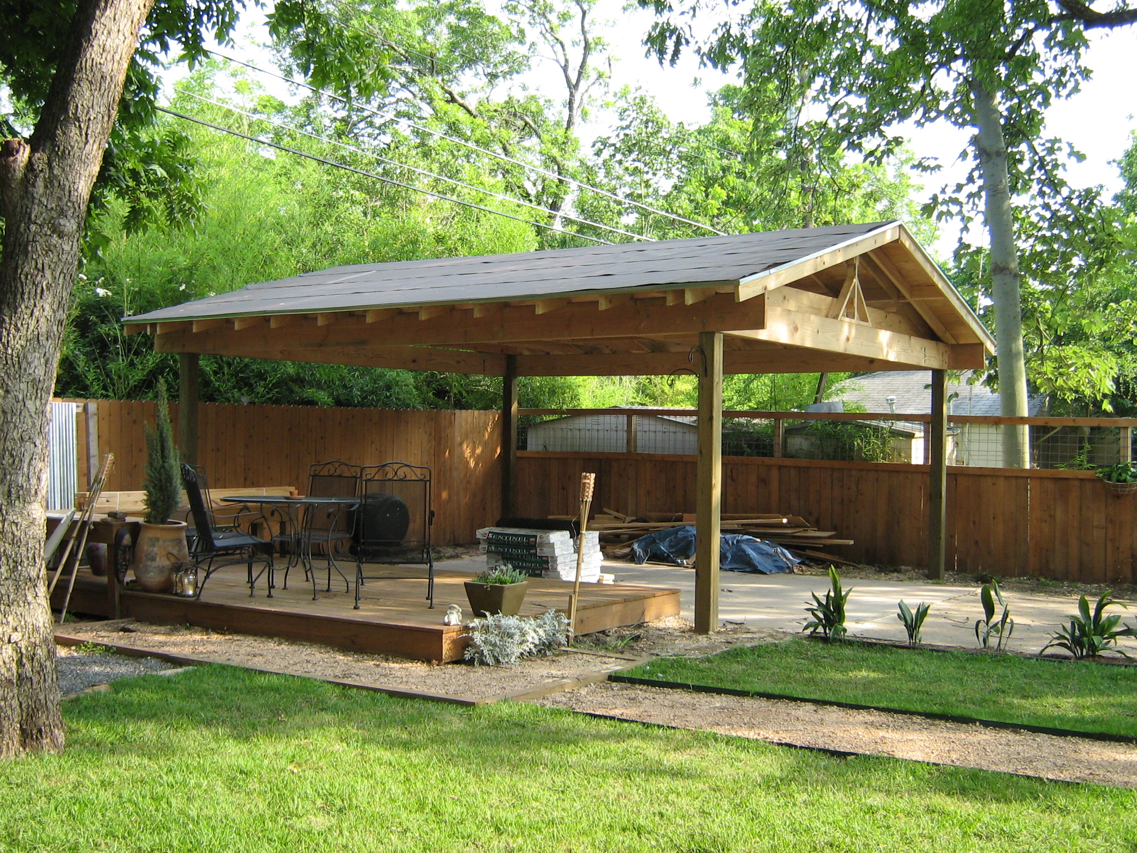 Car Canopy Wood : How to build wood carport kits do it yourself plans