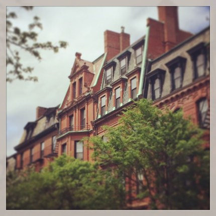 Marlborough Street, Back Bay in Boston