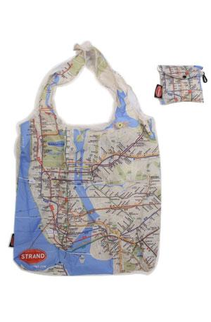 the strand folding NYC subway map tote bag New York City
