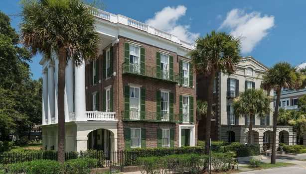 The Battery in Charleston boast historic homes that line the waterfront