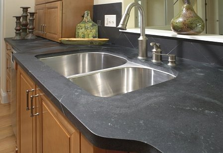 soapstone kitchen counters small table plans advantages as a or bathroom countertop