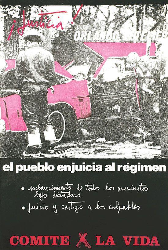 ¡Justicia! Para Orlando Letelier, APJ, 1985, offset, 38 x 45 cm.