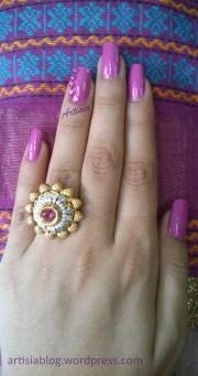 bling ethnic indian nail