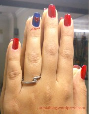red and blue nail art artisia