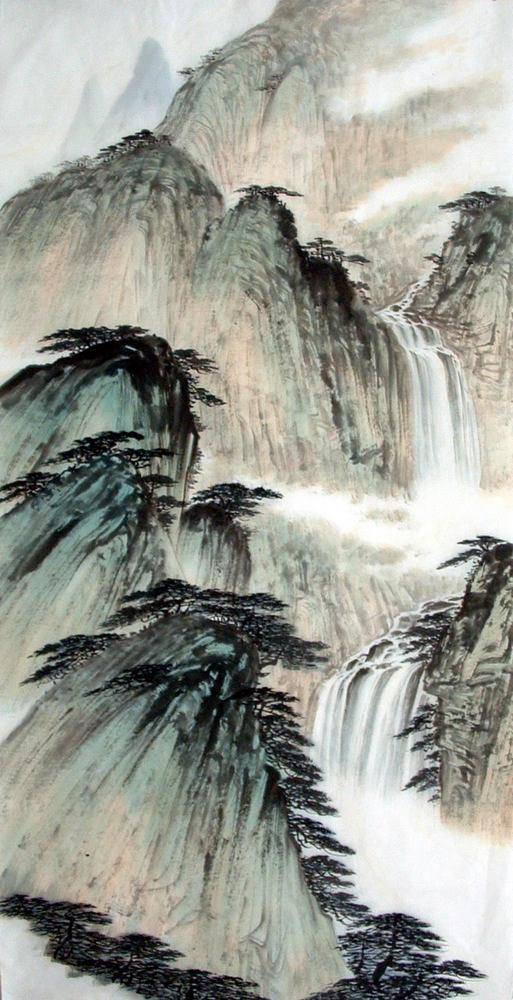 Gambar Pemandangan Gunung Hitam Putih : gambar, pemandangan, gunung, hitam, putih, Lukisan, Pemandangan, Gunung, Hitam, Putih, Cikimm.com