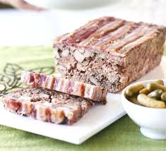 Terrine (Retrieved From http://www.bbcgoodfood.com/recipes/8202/duck-and-pork-terrine-with-cranberries-and-pistach)